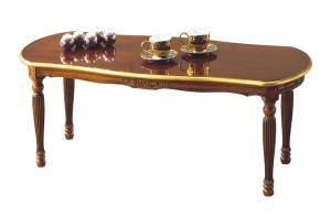 Pequeña mesa de centro ovalada