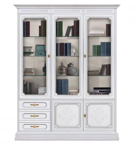 Vitrina librería con frisos elegante colección YOU