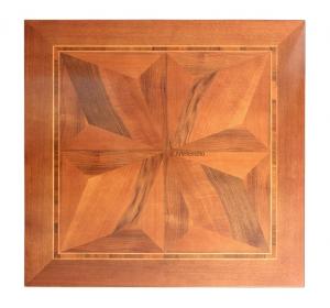 Mesa cuadrada con marqueterías extensible 100-180 cm