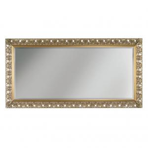 Espejo clásico de madera acabado en pan de oro