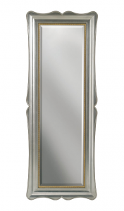 Espejo vertical pan de oro o plata