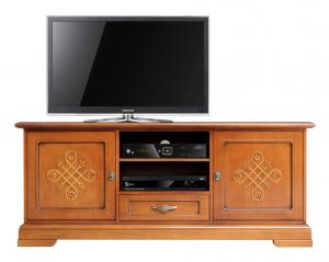 Mueble tv puertas con frisos en madera - Colección You