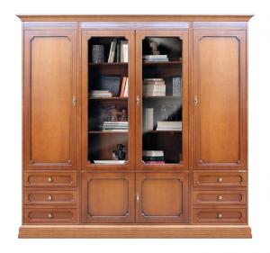 Mueble de salón con puertas de vidrio