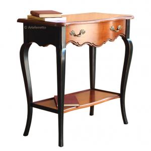 Consola, mesa de recibidor en cerezo macizo