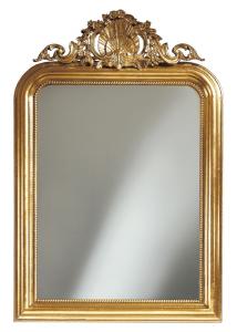 Espejo alto  con cresta tallada Emperador