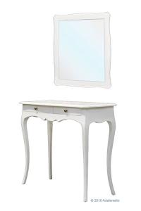 Mesa auxiliar de pared con espejo