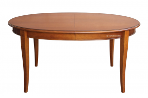 Mesa ovalada extensible en madera de artesanado italiano 160 -250 cm