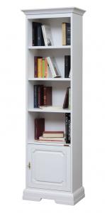 Librería estrecha 1 puerta en madera y color cerezo