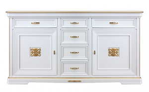 Mueble aparador grandes dimensiones con detalles dorados