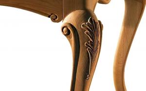 Mesa rectangular estilo clásico patas moldeadas 110x220 cm