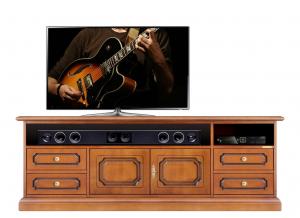 Mueble tv barra de sonido con puertas y cajones
