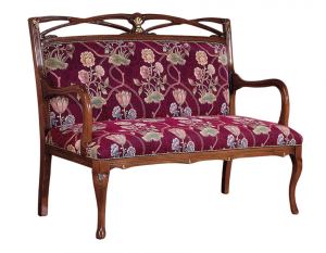 Sofá de estilo en madera con apoya-brazos Helena Burst