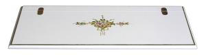 Caja de almacenaje decorada con flores hecho a mano por artesanos