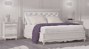 Cama blanca, dormitorio adulto White Dream