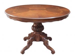 Mesa redonda estilo clásico marquesita diámetro 120 cm
