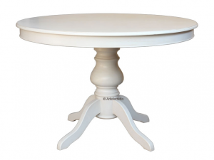 Mesa redonda en estilo Luis Felipe laqueada 110 cm