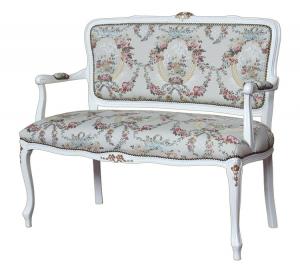 Sofa Laparisienne Claire madera lacada y oro