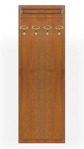 Perchero en madera acabado cerezo con ganchos
