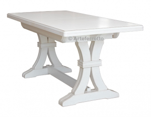 Mesa rectangular laqueada madera maciza 180-360 cm