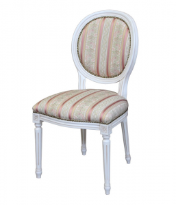 Silla laqueada blanca Moon Light
