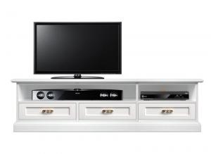 Mueble tv acabo blanco vano barra de sonido en madera diseño italiano