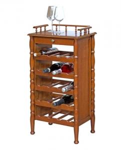 Botellero en madera estilo clásico estructura sencilla
