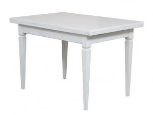Mesa rectangular blanca en madera extensible 120-200 cm