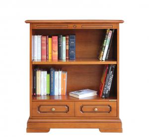 Librería baja para espacios pequeños con cajón