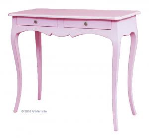 Consola lacada rosa de madera