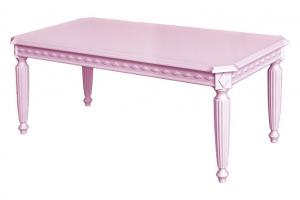 Mesa de centro baja lacada rosa