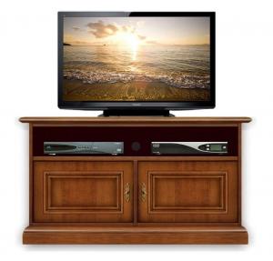 Mueble tv en madera vano central soundbar dos puertas