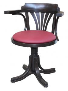 Silla giratoria con asiento tapizado