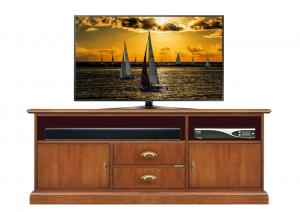 Mueble tv vano barra de sonido central y puertas bajas