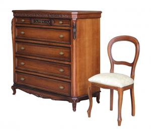 Cómoda clásica y elegante de dormitorio con tapa rebatible