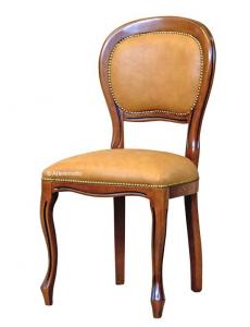 Silla estilo Luis FelipePlus en madera acolchada