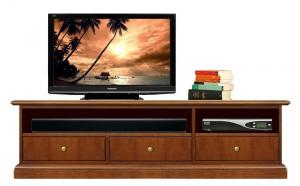 Mueble tv vano barra de sonido con tres cajones
