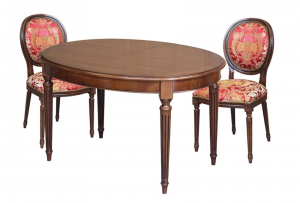 Mesa ovalada en madera elegante y resistente 130-210 cm