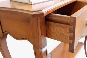 Consola rectangular de recibidor en madera de cerezo