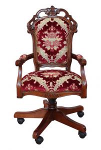 Sillón giratorio estilo clásico tapizado