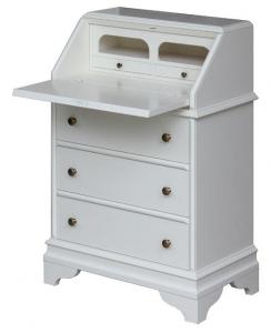Mueble mesa de despacho con tapa abatible y cajones