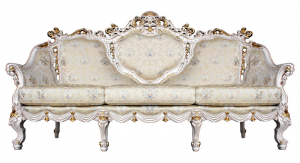 Sofa lujo 3 plazas Lux Gold & Silver