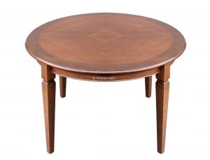 Mesa redonda con marquetería cm 120