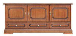 Mueble aparador bajo 3 puertas 3 cajones en madera