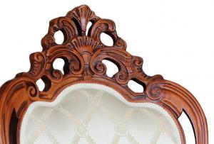 Silla tallada elegante refinada de artesanado