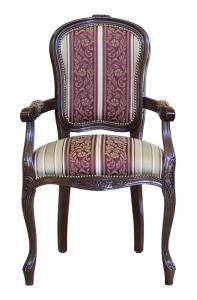 Silla sillón pequeño en madera respaldo acolchado