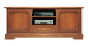 Mueble tv bajo estilo clásico zócalo abierto