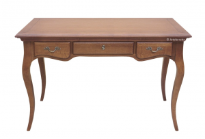 Mesa de despacho en madera de artesanado Sinfony