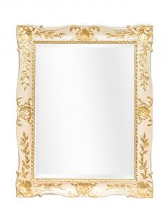 Espejo lacado con detalles en pan de oro