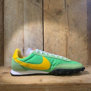 Scarpa Nike Waffle Racer Gialla e Verde Lime