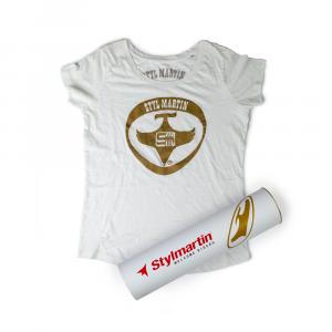 T-shirt vintage Stylmartin bianco, grigio - donna